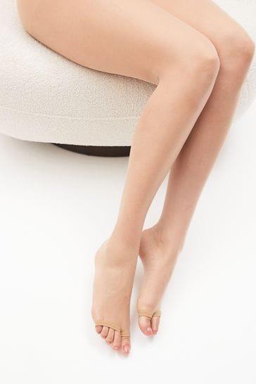 Nude Sandal Toe Sheer Tights