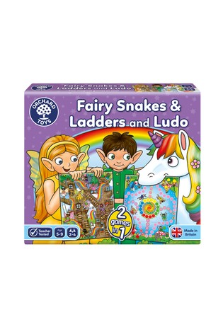 Orchard Toys Fairy Snakes and Ladders Ludo
