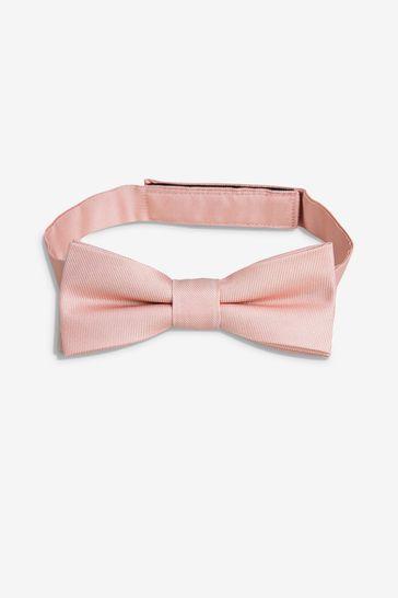 Pink Silk Bow Tie (1-16yrs)