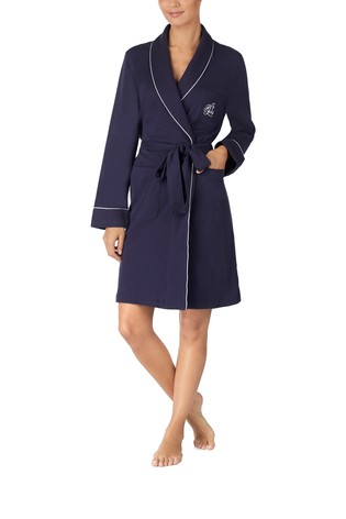 Lauren Ralph Lauren® Navy Quilted Robe