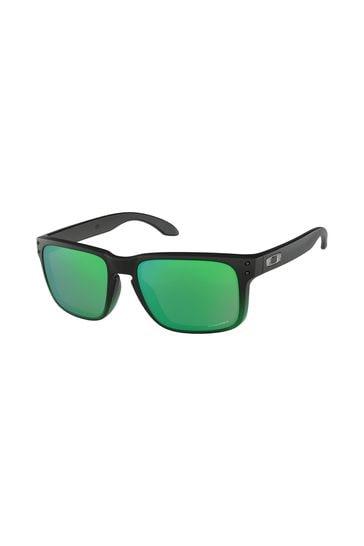 Oakley® Black/Green Holbrook Sunglasses