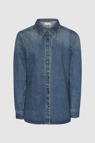 Reiss Blue Manda Denim Shirt
