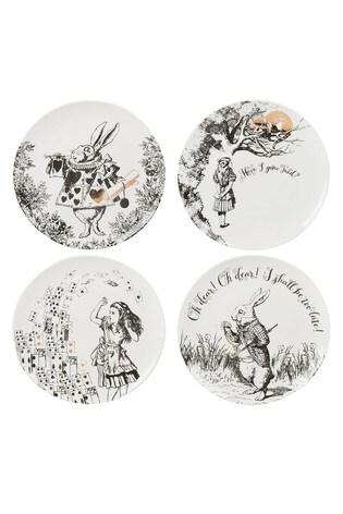 Set of 4 V&A Alice in Wonderland Side Plates