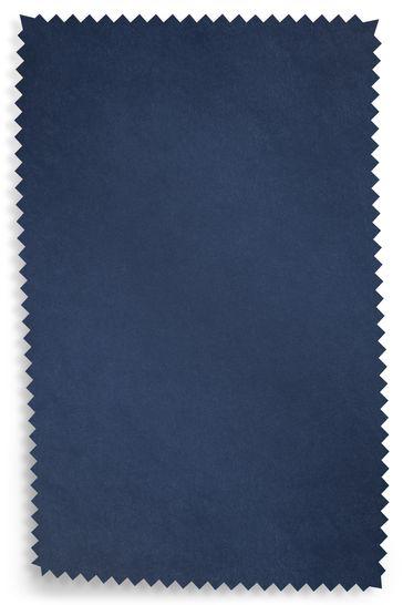 Opulent Velvet Navy Upholstery Fabric Sample