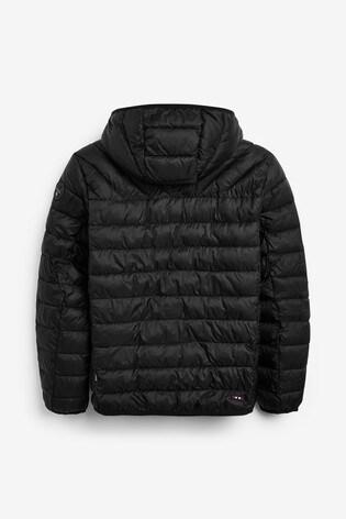 Napapijri Boys Black Aerons Padded Jacket