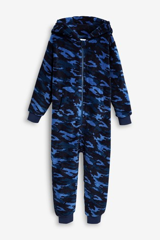 Blue Camo All-In-One (3-16yrs)