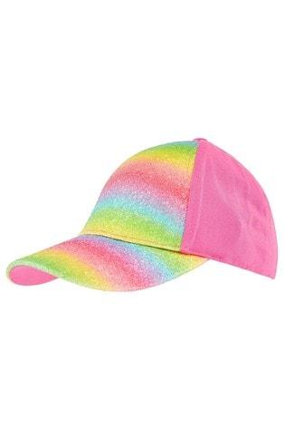 Angels by Accessorize Pink Rainbow Glitter Baseball Cap