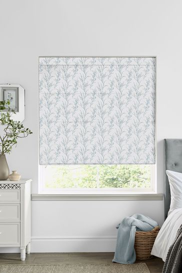 Laura Ashley Pussy Willow Off White Seaspray Made to Measure Roman Blind
