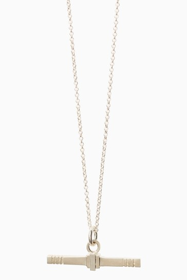 Mix/Cabbage White T-Bar Necklace