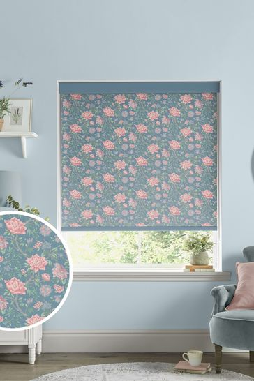 Laura Ashley Blue Tapestry Floral Made to Measure Roller Blind