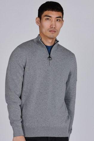 Barbour® International Cotton Half Zip Jumper