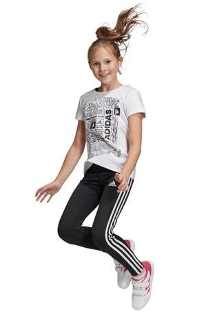 adidas Black Training 3 Stripe Leggings