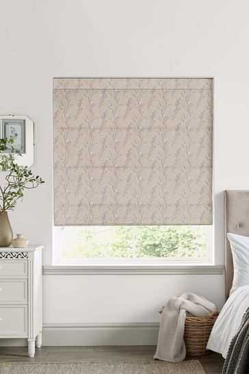 Laura Ashley Natural Pussy Willow Made to Measure Roman Blind
