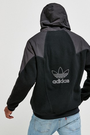 adidas Originals Black Big Trefoil Hoodie