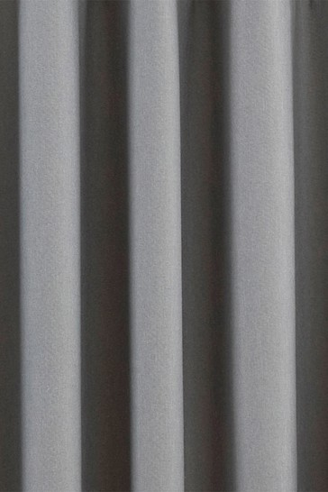 Riva Home Silver Twilight Blackout Eyelet Curtains