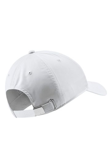 Nike Adult White Essential Metal Swoosh Cap