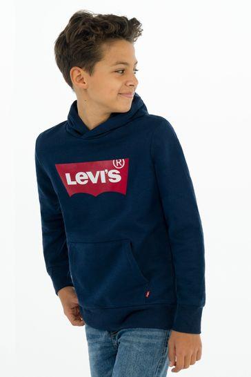 Levi's® Kids Navy Batwing Hoodie
