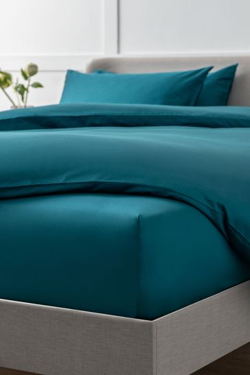 Dark Teal Collection Luxe 400 Thread Count Deep Fitted 100% Egyptian Cotton Sateen Deep Fitted Sheet