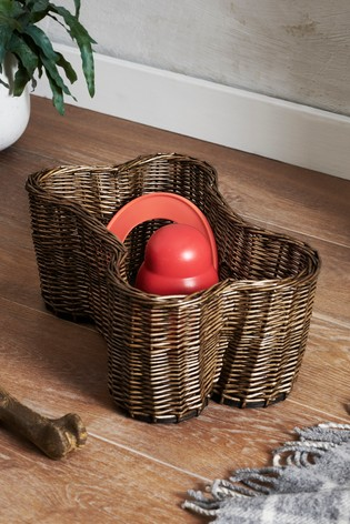 Wicker Bone Shaped Storage Basket