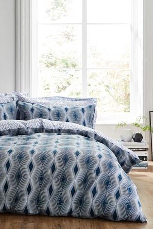 Bianca Ziggurat Geo Cotton Duvet Cover And Pillowcase Set