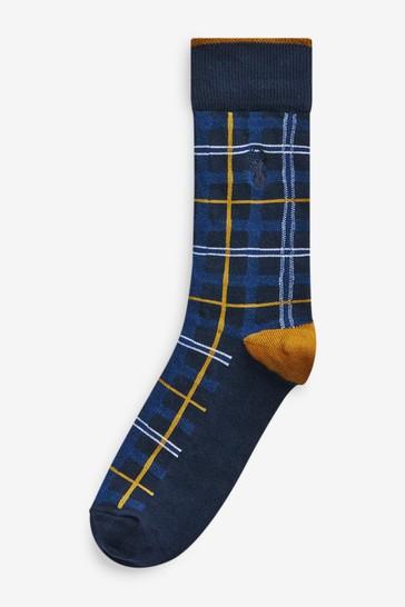 Bright Check 5 Pack Pattern Socks