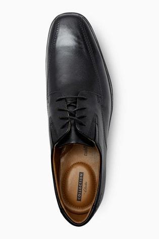 Clarks Wide Fit Black Tilden Walk Shoe