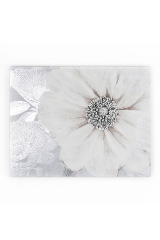 Grey Bloom Canvas by Art For The Home