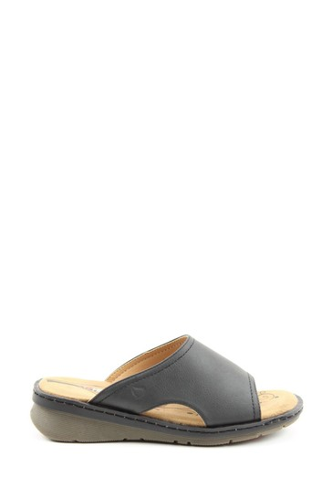 Heavenly Feet Ginger Ladies Black Sandals