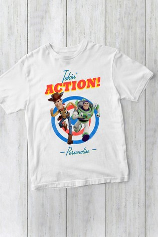 Disney™ Toy Story Personalised Woody And Buzz Lightyear T-Shirt