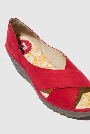 Fly London Peep Toe Wedge Sandals