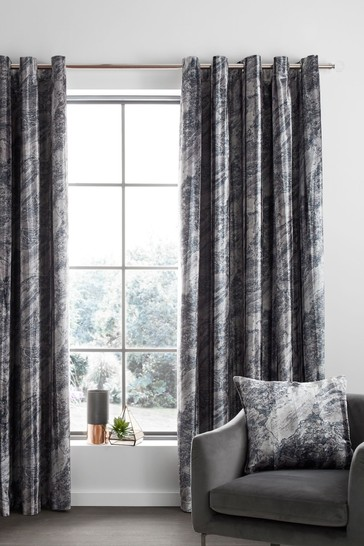 Catherine Lansfield Marble Eyelet Curtains