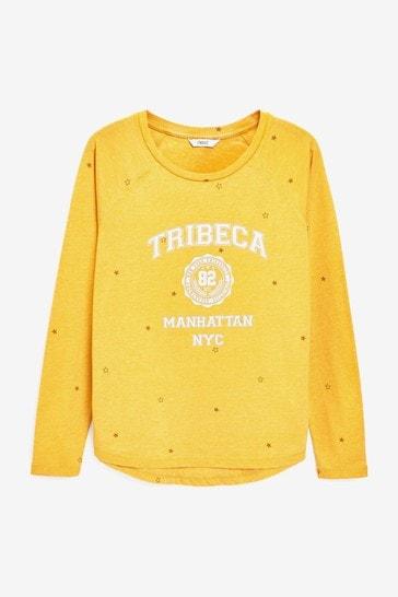 Ochre Tribeca Raglan Long Sleeve Top