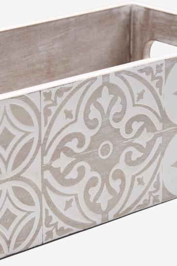 Tile Print Tray Storage Box