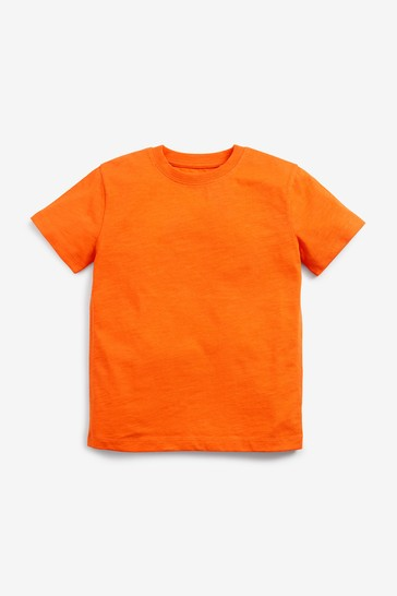 Deep Orange Short Sleeve Crew Neck T-Shirt (3-16yrs)