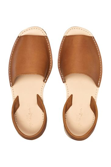 Tan Leather Regular/Wide Fit Beach Sandals