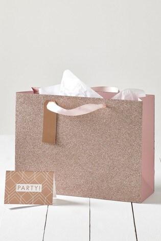 Glitter Party Gift Bag Set