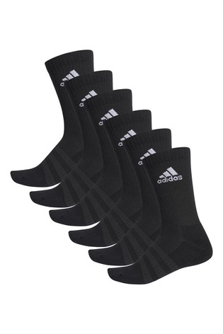 adidas Kids Black Crew Socks Six Pack