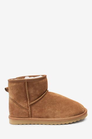 Tan Signature Suede Boot Slippers