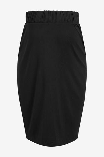 Black Maternity Jersey Skirt