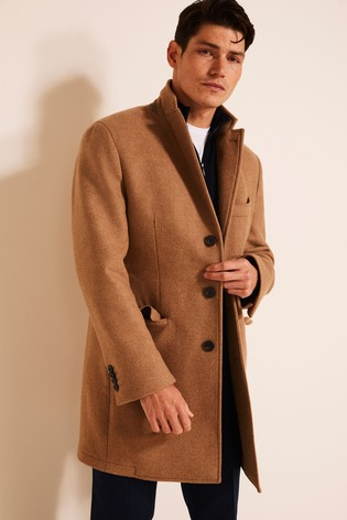 Moss 1851 Camel Tailored Fit Double Faced Overcoat