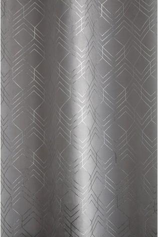 Velvet Metallic Geo Curtain Fabric Sample
