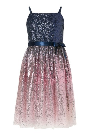 Monsoon Ombre Sequin Prom Dress