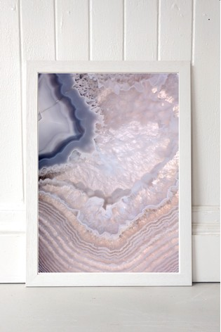 Indigo Lull Framed Print by East End Prints