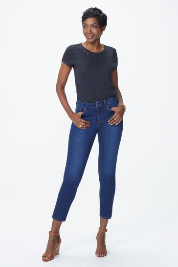 NYDJ Mid Blue Denim Alina Cooper Skinny Ankle Jeans