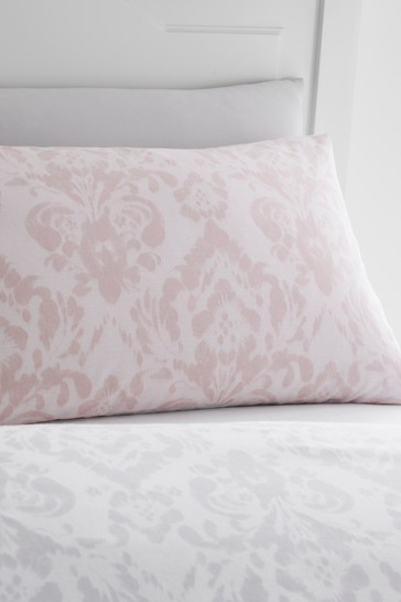 Catherine Lansfield Blush Damask Duvet Cover and Pillowcase Set