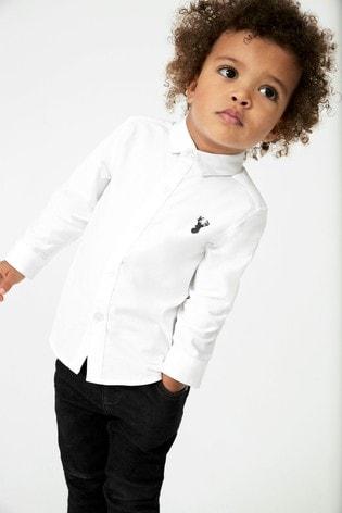 White Long Sleeve Oxford Shirt (3mths-7yrs)