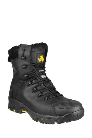 Amblers Safety Black FS999 Hi Leg Composite Safety Boots With Side Zip