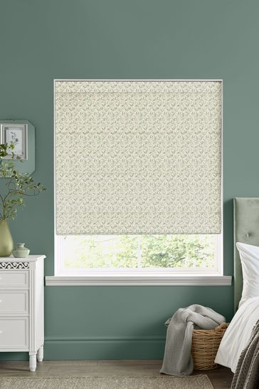 Laura Ashley Willow Leaf Hedgerow Made to Measure Roman Blind