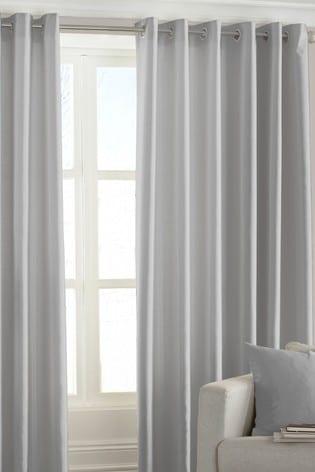 Riva Home Silver Fiji Eyelet Curtains