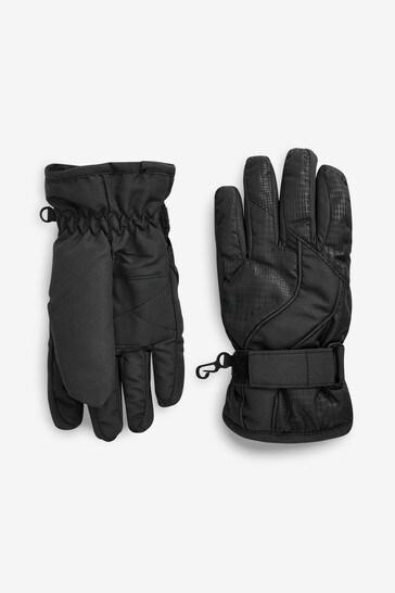 Black Ski Gloves (3-16yrs)